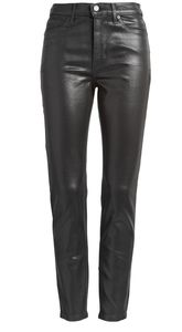 Banana Republic Black Skinny Coated Jean
